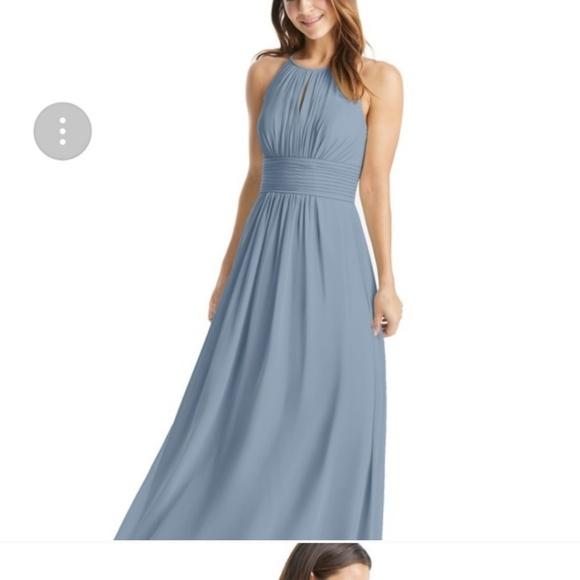 Azazie Dresses & Skirts - Azazie dusty blue Bonnie dress